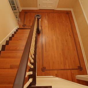 Custom Cinnamon Maple Hardwood Flooring