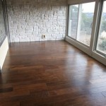Multiple Width Handscraped Hickory Hardwood Flooring