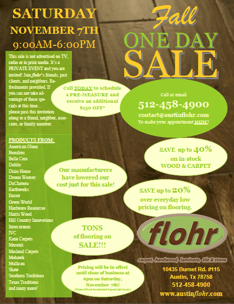 flohr One Day Sale