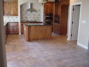 ceramic-tile-floor-and-travertine-backslash Floors