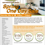 Flooring One Day Sale May 19th